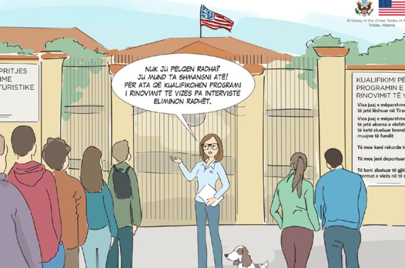 Ambasada Amerikane jep njoftim për rinovimin e vizave